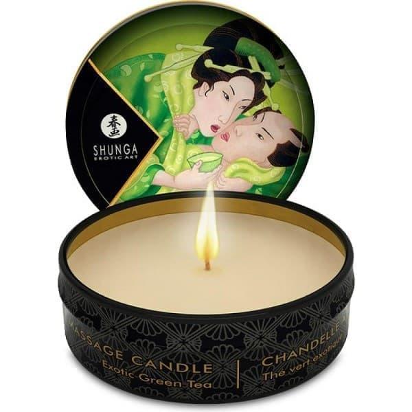 Массажная свеча Exotic Green Tea с ароматом зелёного чая - фото 10894