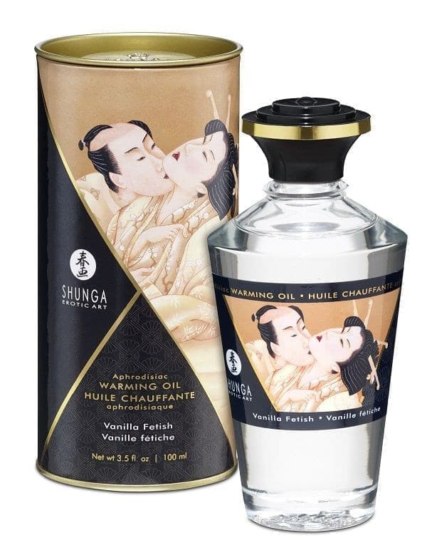 Массажное интимное масло Intimate Kisses Warming Oil с ароматом ванили - фото 10921