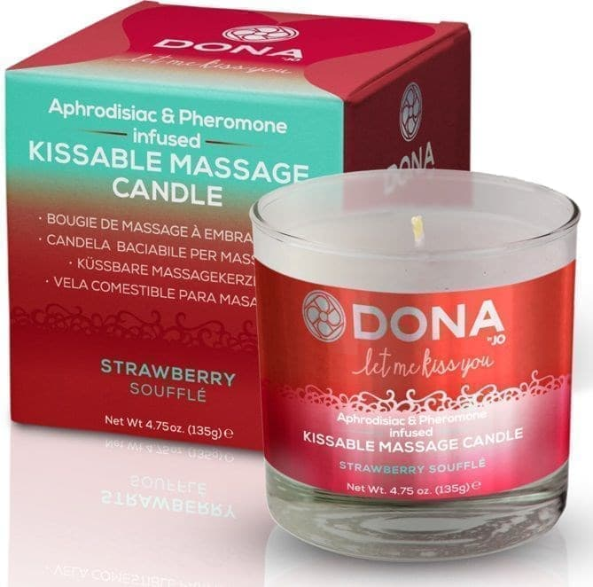 Массажная свеча Dona Strawberry Souffle - фото 10981