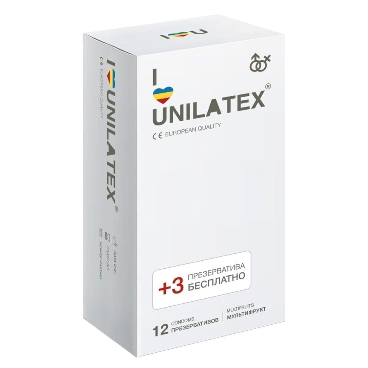Ароматизированные презервативы Unilatex Multifruits - фото 11085