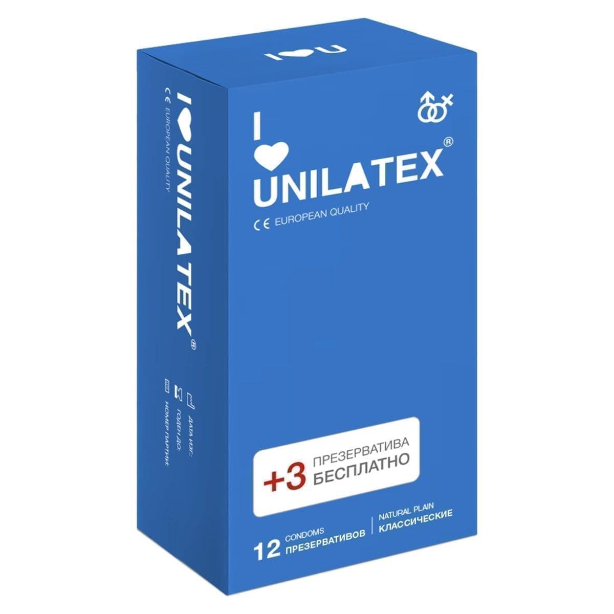 Презервативы Unilatex Natural Plain - фото 11088