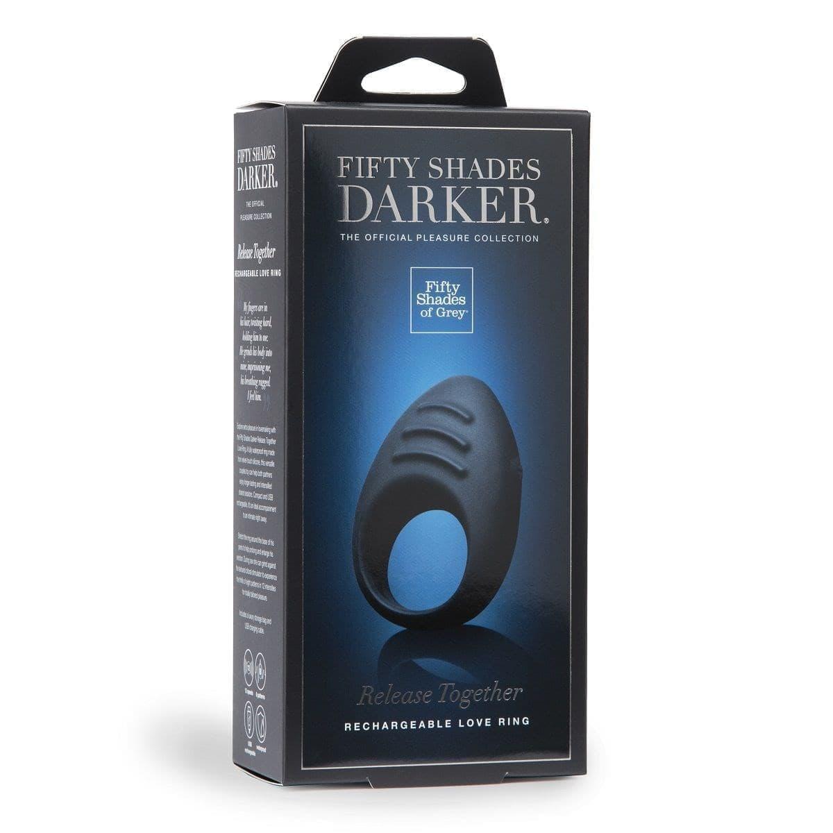 Эрекционное кольцо с вибрацией Fifty Shades Darker Release Together - фото 12412