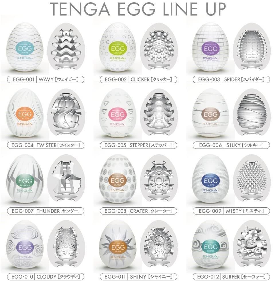 Tenga-Egg Thunder, Мастурбатор-яйцо - фото 18587