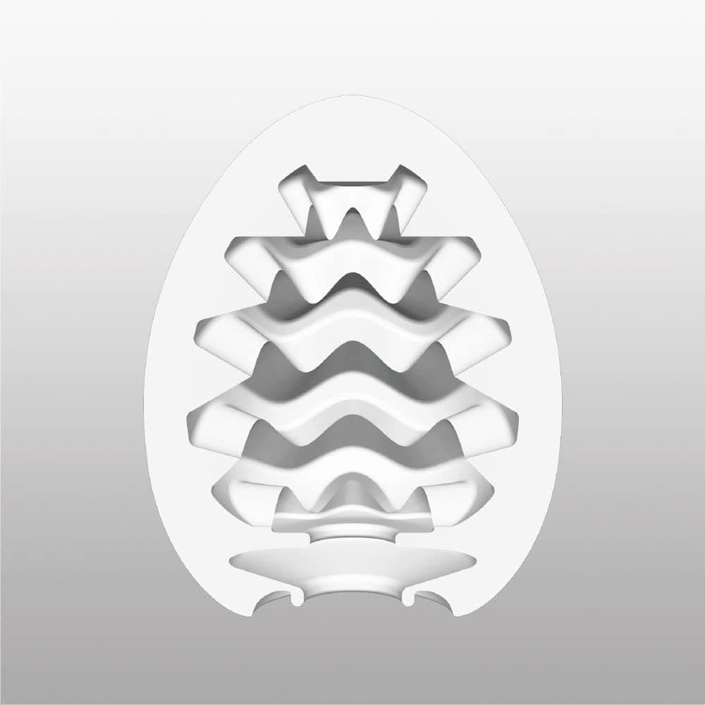 Tenga-Egg Wavy, Мастурбатор-яйцо - фото 18601