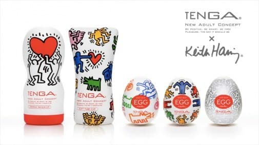Tenga&Keith Haring Egg Party, Мастурбатор-яйцо - фото 18616