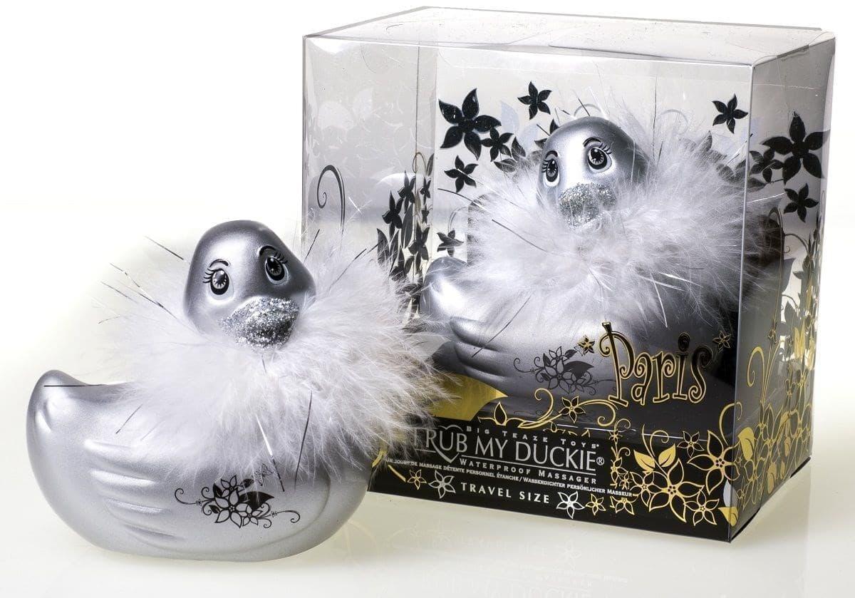 Вибратор-уточка I Rub My Duckie Paris Silver Travel Size - фото 7448