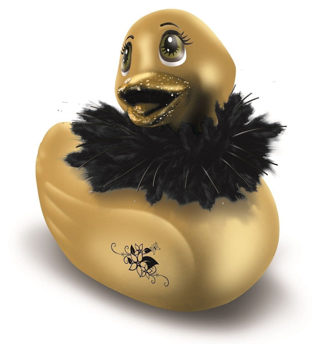 Вибратор-уточка I Rub My Duckie Paris Gold Travel Size - фото 7457