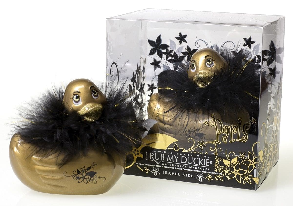 Вибратор-уточка I Rub My Duckie Paris Gold Travel Size - фото 7458