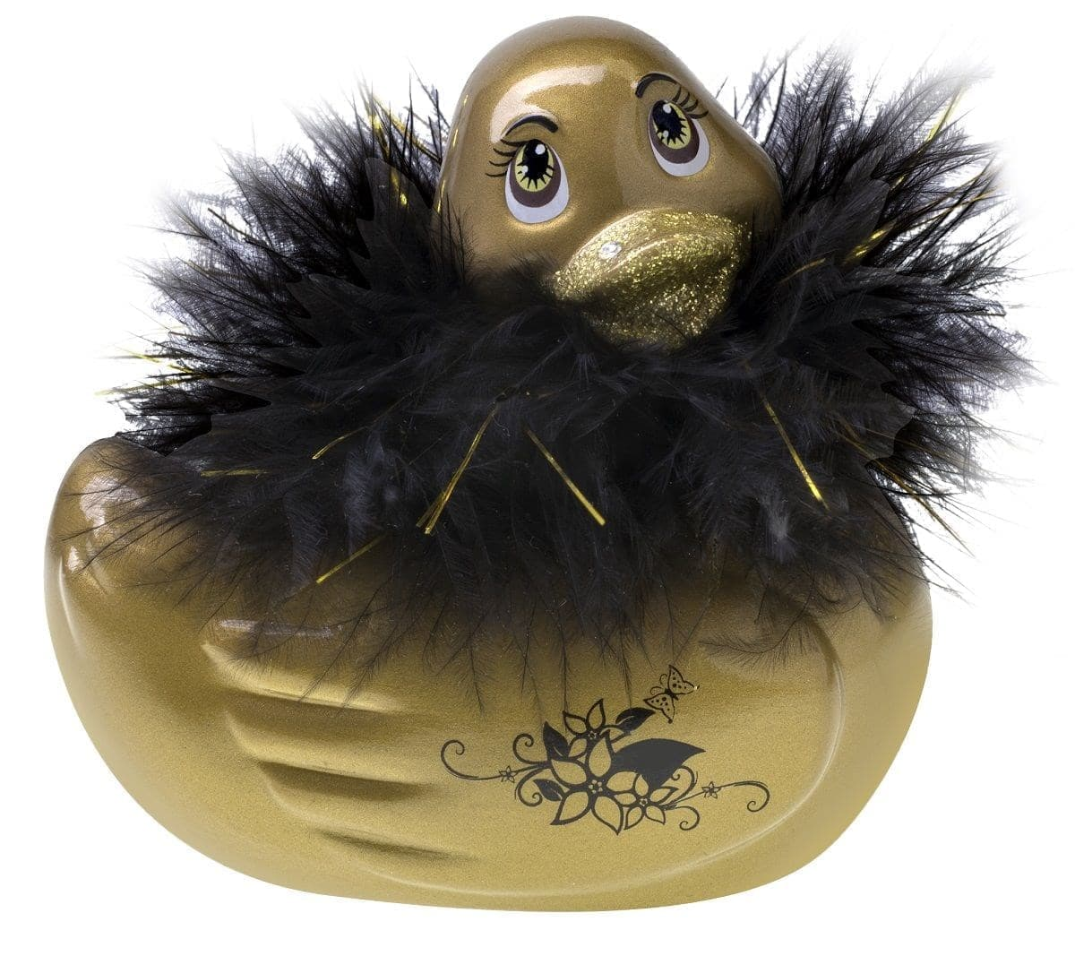 Вибратор-уточка I Rub My Duckie Paris Gold Travel Size - фото 7459