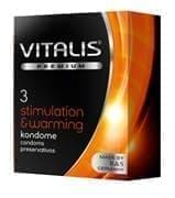 Презервативы VITALIS PREMIUM stimulation warming