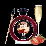 Shunga, Крем-краска Для Тела с Ароматом Клубники и Шампанского