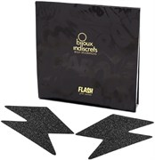 Bijoux Indiscrets Flash Bolt Black, Украшение на грудь