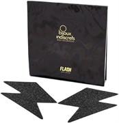 Bijoux Indiscrets Flash Bolt Black, Украшение на грудь