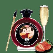 Shunga, Крем-краска Для Тела с Ароматом Клубники и Шампанского - фото 17627